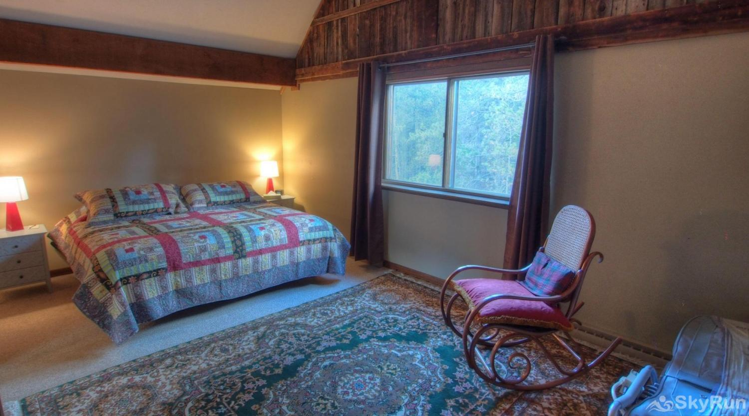 Dory Lakes Cabin King master room