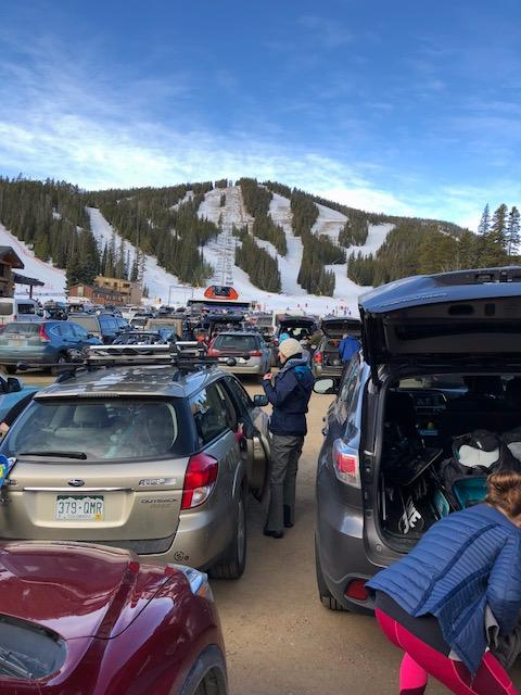 Eldora ski Nov 17 parking lot