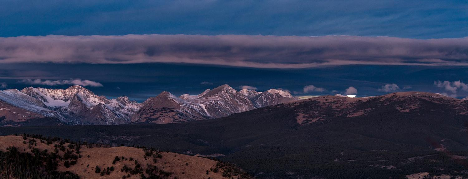 Moonset Over Indian Peaks Wilderness